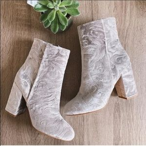 Rebecca Minkoff Bryce Velvet Floral Booties NEW!